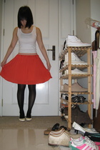 Uniqlo top - skirt - tights - Uniqlo shoes