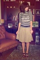 Yves Saint Laurent sweater - Comptoir des cottoniers skirt - Gap belt - Modern V