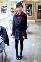 H&M cardigan - tights - Urban Behaviour shirt - payless shoes - skirt