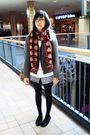 Gray-h-m-jacket-white-from-taiwan-dress-blue-bluenotes-sweater-red-winners
