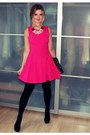 Hot-pink-zara-dress-black-primark-purse-light-pink-h-m-necklace