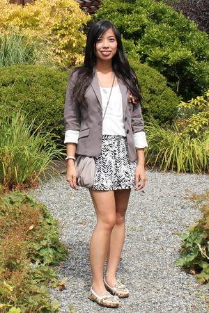 silver H&M blazer - black Forever 21 skirt