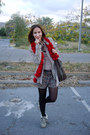 Heather-gray-guess-boots-beige-zara-jeans-ruby-red-scarf