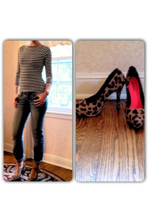 striped Mossimo top - leopard print Divided heels - rose-gold Mossimo watch