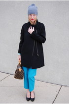 turquoise blue JCrew pants