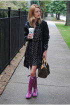 black Forever 21 dress - maroon Hunter shoes