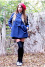 Beret-american-apparel-hat-marc-by-marc-jacobs-jacket-h-m-shirt