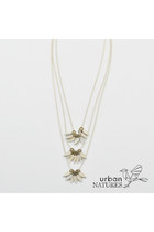 urbanNATURES Layered Leaves Necklace