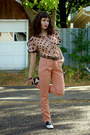 Romwe-pants-polka-dot-unknown-blouse