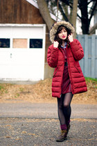 brick red parka Lands End jacket - crimson unknown jumper