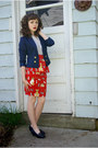 Red-kitty-peplum-made-by-me-skirt-navy-divided-blazer