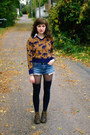 Brown-vintage-sweater-navy-thigh-highs-socks