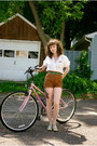 Off-white-vintage-unknown-shirt-dark-brown-vintage-unknown-shorts