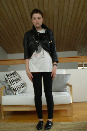 vintage jacket - vintage t-shirt - Cheap Monday jeans - vintage shoes