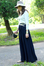 navy maxi skirt Jcrew skirt