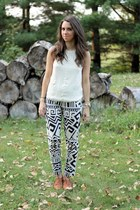 silk rag & bone top - print Nordstrom pants - oxfords madewell loafers