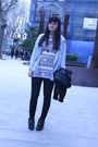 Blue-zara-shirt-white-american-apparel-t-shirt-black-accessories-black-pur