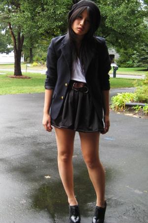 Bongo shoes - thrifted belt - Fancy Pants Vintage blazer - Hand Made skirt