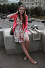 Ivory-h-m-dress-salmon-h-m-blazer-burnt-orange-dooney-burke-bag