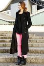 Black-zara-coat-bubble-gum-asoscom-jeans-black-zara-blouse