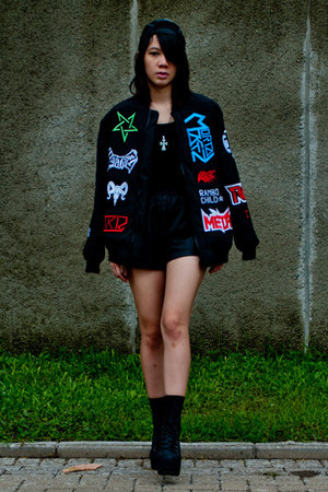 KTZ jacket - Jeffrey Campbell shoes - GZB hat - Zara shorts