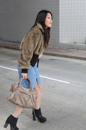 Express jacket - See by Chloe blouse - balenciaga purse - ras shoes - cotton on