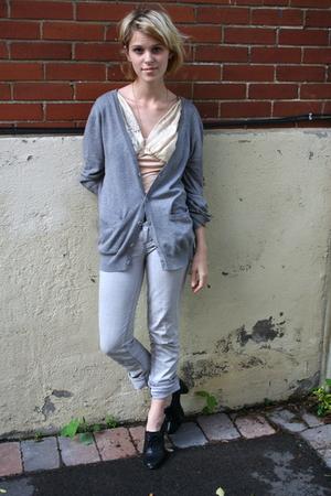 H&M sweater - christian lacroix top - Club Monaco jeans - H&M shoes