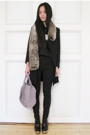 acne boots - Alexander Wang purse - Ebay necklace - H&amp;M jacket
