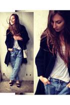 vintage coat - Aldo shoes - vintage jeans - Zara bag - H&M t-shirt