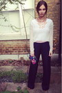 Vintage-bag-h-m-top-eudon-choi-pants-kurt-geiger-pumps-h-m-necklace