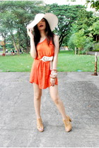 carrot orange H&M dress