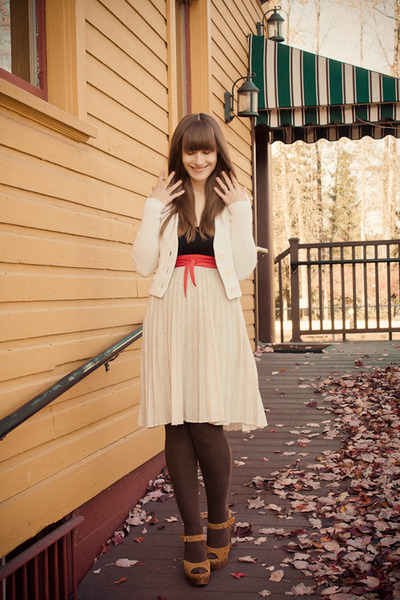 vintage skirt - Jeffrey Campbell shoes - American Eagle sweater