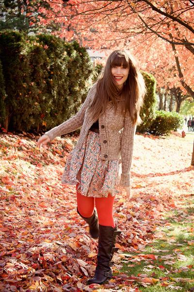 asoscom tights - Blowfish boots - Gap sweater - modcloth skirt