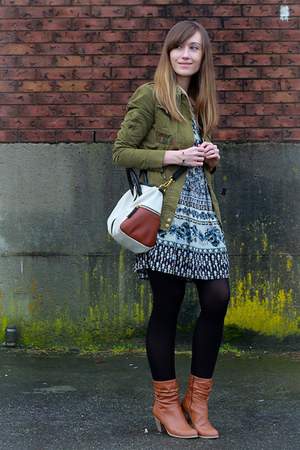 Forever 21 jacket - Aldo shoes - Forever 21 dress - Fossil bag