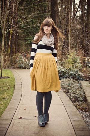 Forever21 skirt - joe fresh style skirt - Jeffrey Campbell shoes - H&M top