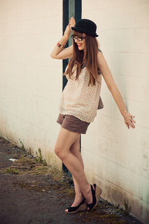 H&M shoes - Old Navy shorts - threadcase top