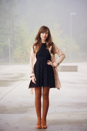 Jeffrey Campbell shoes - H&M dress - Gap coat - asos tights