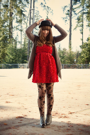 modcloth dress - Jeffrey Campbell shoes - asoscom tights