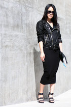 black pencil asos skirt - black Alexander Wang shoes - black MINUSEY jacket
