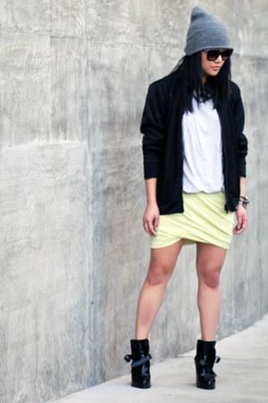 black mesh Zara jacket - black Zara boots