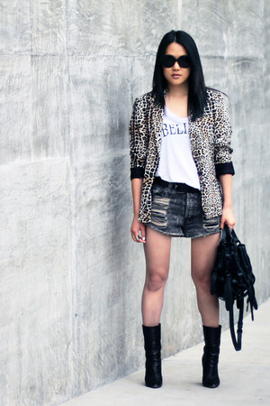 believe CJ by Cookie Johnson shirt - Giuseppe Zanotti boots