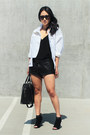 Black-charles-jourdan-shoes-white-cameo-the-label-jacket