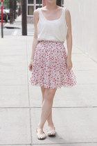 Silk Blended Rose Bud Skirt