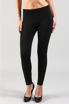 Skinny Fleece Lined leggings [Black/Wine]
