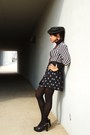 Black-vintage-top-vintage-shirt-haute-couture-vintage-hat-target-tights-