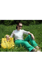 Michael Kors bag - BeFree blouse - asos pants - calvin klein glasses