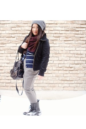H&M pants - Nomi boots - H&M jacket - f21 bag