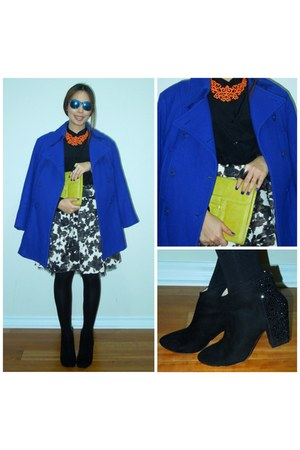 Zara boots - le chateau coat - Forever21 shirt - Mango bag - The Executive skirt