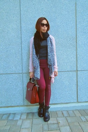 H&amp;M scarf - Topshop boots - Zara sweater - Zara bag - zeroUV sunglasses
