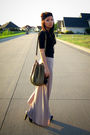 Beige-zara-shoes-green-deux-lux-purse-black-topshop-top-gold-urban-outfitt